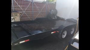 Cars Transporting Trailer 17ft x 8ft Steel including Tilt lift And Towing Winch for Sale in Miami, FL
