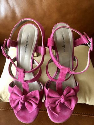 Nanette Lepore brand suede high heel sandals for Sale in Lewis Center, OH