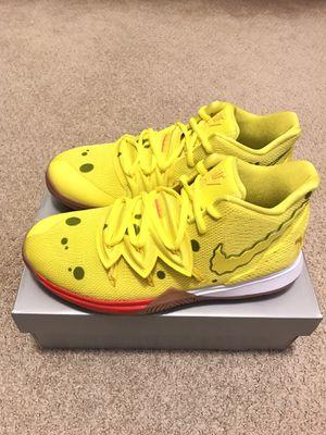 Nike Spongebob Squarepants Kyrie Irving 5 (GS) Size 7Y for Sale in Tustin, CA