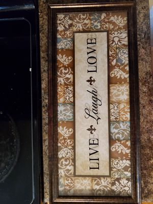 Live Laugh Love teal and brown Wall decor for Sale in Hamilton, OH