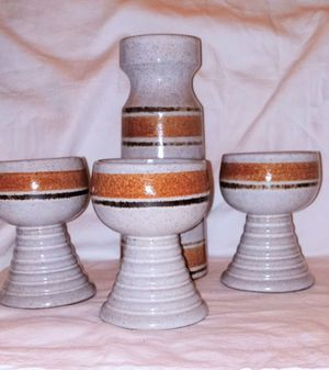 Mid. Century Pottery Craft wine set for Sale in Hillsboro Beach, FL