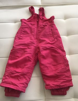 Cherokee Baby Girls Snow Pants Overall Pink Sz 18 months for Sale in Las Vegas, NV