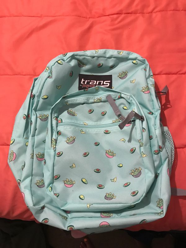 "Trans by Jansport ""it's an avocadooo"" back pack"