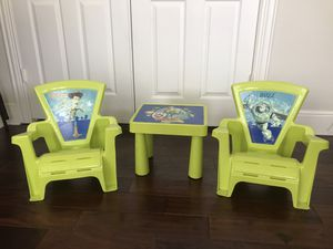 Woody & Buzz table and chairs for kids for Sale in Plano, TX