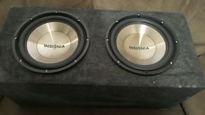 Car audio 12 inch 1000 watts speakers with box sound really good $100 OBO. for Sale in Belle Isle, FL
