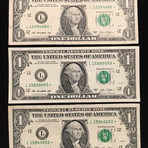 "2013 $1 BILL (3) STAR NOTES ""L"" SAN FRANCISCO for Sale in La Puente, CA"