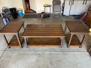 Coffee table and end tables. for Sale in Beaumont, CA