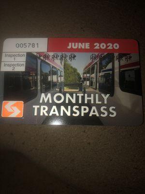 SEPTA MONTLY TRANSPASS FOR JUNE 2020 for Sale in Philadelphia, PA