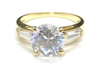 14k solid yellow gold zirconia solitaire engagement ring for Sale in San Francisco, CA