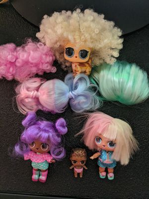 LOL Dolls and wigs lot for Sale in Tacoma, WA