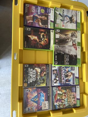 xbox 360 and ps3 games for Sale in San Antonio, TX