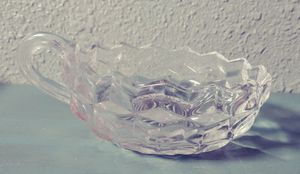 Used, Vintage Fostoria Clear Glass Bowl with Handle for Sale for sale  Yelm, WA