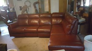 Sectional Leather couch / recliners / storage for Sale in Home, WA