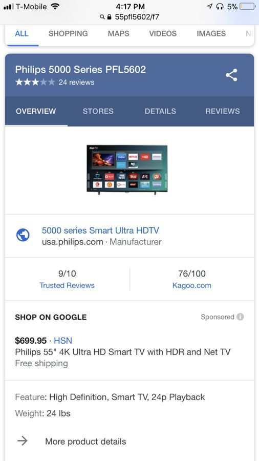 """55"""" Smart Tv with LED Background *no remote for Sale in Missouri City, TX -  OfferUp"""