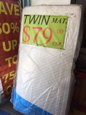 Twin mattress reversible regular new for Sale in Long Beach, CA