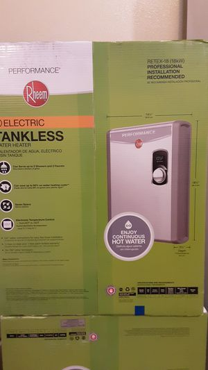 Rheem Electric Tankless Water Heater (RTEX-18) 18kw for Sale in Fresno, CA