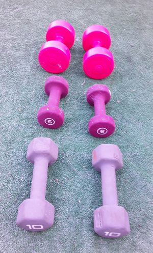 40lbs Dumbell Weights 2x10lbs 2x6lbs 2x4lbs for Sale in Hollywood, FL