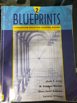 Blueprints 2 composition skills for academic writing for Sale in Miami, FL