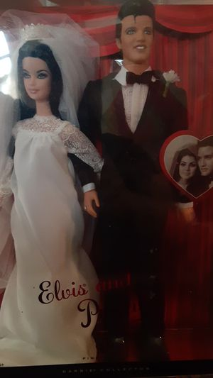 Elvis and Priscilla barbie collectors edition new for Sale in St. Louis, MO