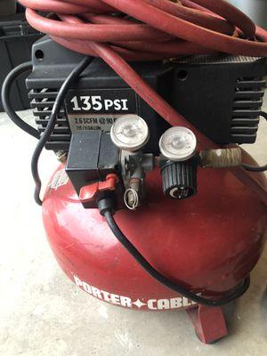 Porter cable 135 psi air compressor with hose for Sale in Katy, TX