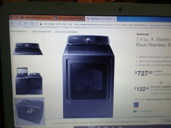 2 months old largest wash and dryer perfect condition 1000.00 for both