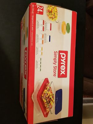 Pyrex Simply Store Glass Bakeware Set, 24 Piece for Sale in Newark, NJ
