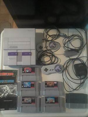 One Owner Super Nintendo SNES Complete Setup with Cords, Games, and TV for Sale in Parma, OH