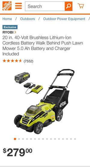 20 inch ryobi cordless lawn mower for Sale in Phoenix, AZ