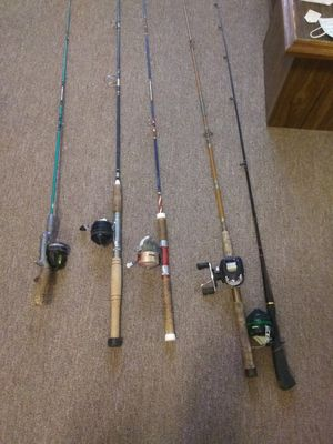 Old fishing poles for Sale in Warren Air Force Base, WY