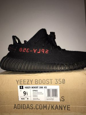 Yeezy 350 v2 bred 9.5 authentic (willing to meet at index) for Sale in Portland, OR