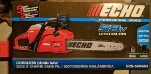 """Echo 58v 16"""" Chainsaw w/ 4.0 Battery and Charger for Sale in Naperville, IL"""