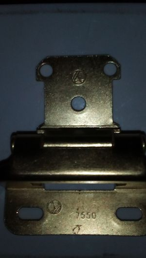"2 Amerock 2-Packs (4 hinges), 1/2"", Antique Gold, Self-Closing Cabinet Hinge for Sale in El Mirage, AZ"