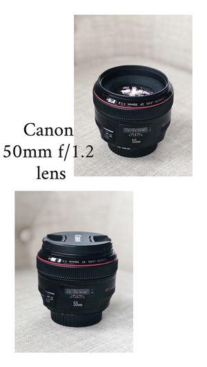 Canon 50 mm 1.2 camera lens for Sale in Haymarket, VA