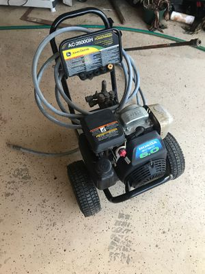 JOHN DEERE PRESSURE WASHER for Sale in North Potomac, MD