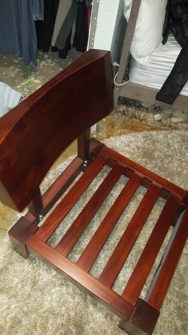 2 nice wood chairs great shape