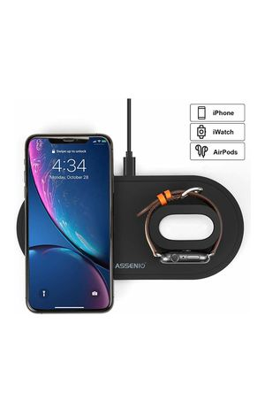 3 in 1 Wireless Charging Dock Stand for Apple Watch Series 5/4/3/2/1 & AirPods, Fast Charging Station for iPhone 11/11 pro/Xs Max/Xr/X/8/8 Plus for Sale in Hacienda Heights, CA