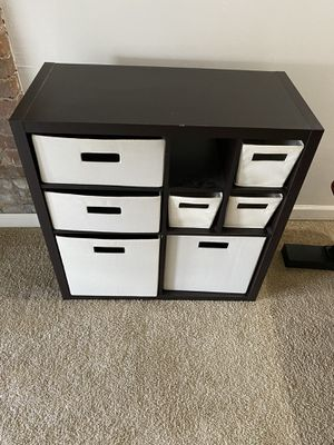 Target Shelving Unit with Cloth Drawers for Sale in Columbus, OH