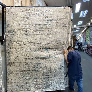 5x7 Area Rugs Carpet Rugs Abstract Modern Design Antique Faded Looks Thick Tight Pile Colors Beige Blue for Sale in Los Angeles, CA