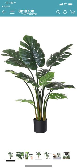 Fopamtri Artificial Monstera Deliciosa Plant 43 Inch Fake Tropical Palm Tree Perfect Faux Swiss Cheese Plant for Home Garden Office Store Decoration- for Sale in Santa Ana, CA