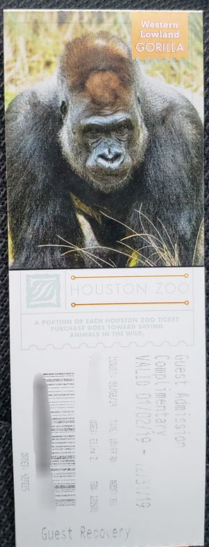 HOUSTON ZOO 5 TICKETS for Sale in Corpus Christi, TX