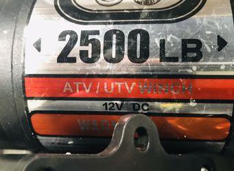 ZEAK 2500 lb Advanced Off-Road 12V DC ATV / UTV Electric Winch, Synthetic Rope with Mini-Rocker Solenoid Kit for Sale in La Habra,  CA