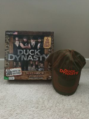 Duck Dynasty Board Game & Hat for Sale in Charlotte, NC