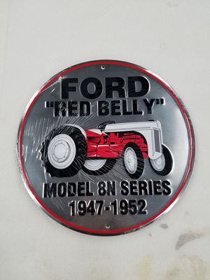 Ford red belly farm tractor embossed metal sign for Sale in Vancouver, WA