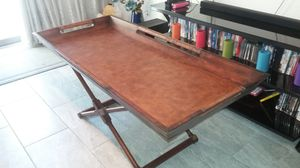 Xtra Large TOMMY BAHAMA Style Butler Table w/ stand (Faux Snakeskin) for Sale in Phoenix, AZ