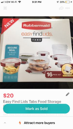 Pyrex® Simply Store 10-pc Set w/ Multi-Colored Lids for Sale in Salt Lake City, UT