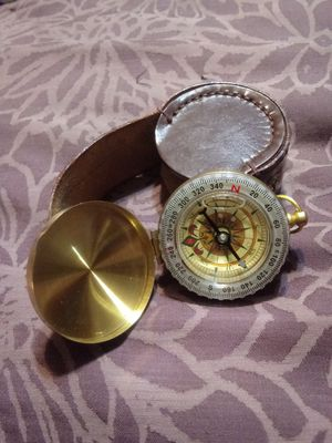 Antique brass pocket watch style compass for Sale in Redlands, CA