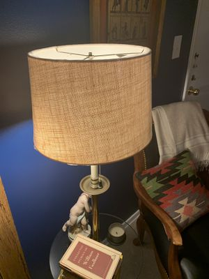 Large Drum Lamp Shade (White Burlap) for Sale in Beverly Hills, CA