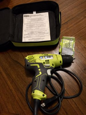 RYOBI 3/8 in. Drill + 7 Piece Drills for Sale in Long Beach, CA