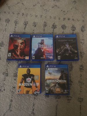 Five PS4 games for sale for Sale in Tacoma, WA