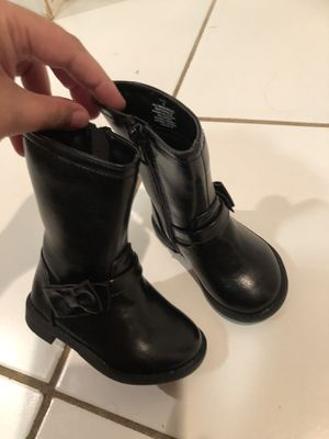 Baby girl boots brand new size 4 for Sale in West Springfield, VA